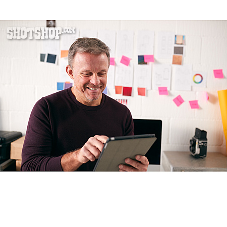 Online, Recherche, Designer, Tablet-pc