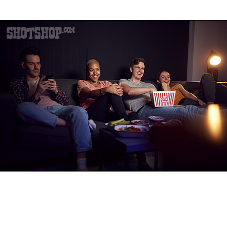Home, Camera Film, Friends, Popcorn, Tv Night, Streaming