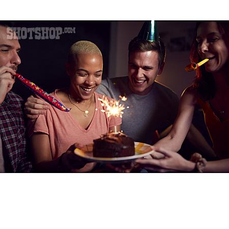 Home, Birthday, Friends, Birthday Cake, Birthday Party