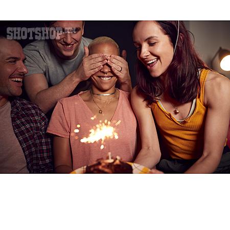 Surprise, Birthday, Friends, Birthday Cake