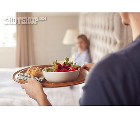 Breakfast, Morning, Couple, Bedroom, Wedding Anniversary