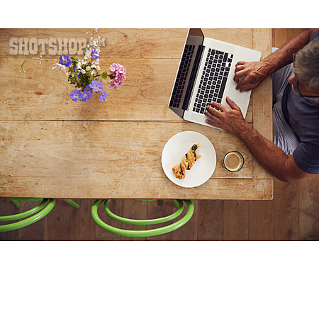Coffee, Croissant, Online, Pastry, Homeoffice