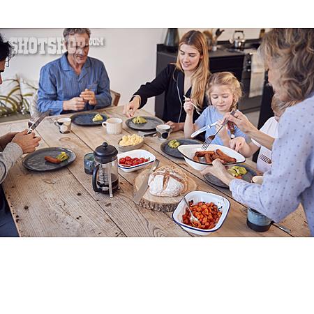 Home, Meal, Family, Grandparent, Brunch