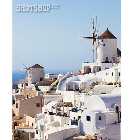 Houses, Windmill, Santorini