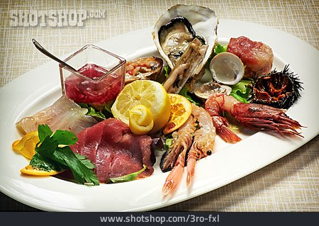 Seafood, Appetizer, Served