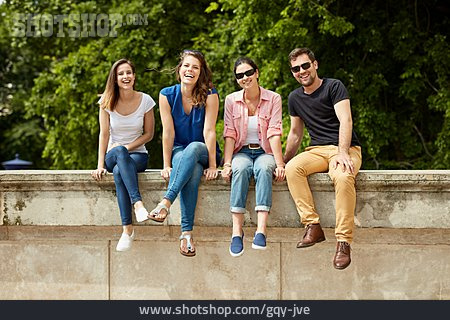 Smiling, Friends, Group Picture